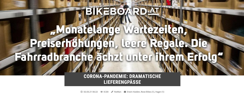 Der CORONA Bike Boom und seine Auswirkungen - bikeboard.at berichtet